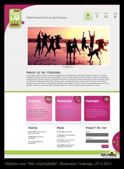 Website Het Vrijetijdslab