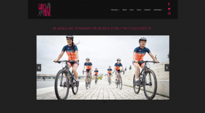 Website en logo Girls on the move