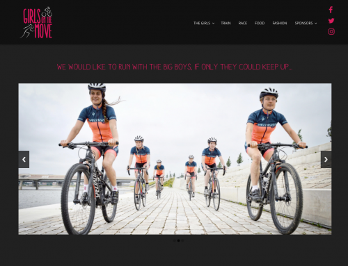 Logo en website Girls On The Move
