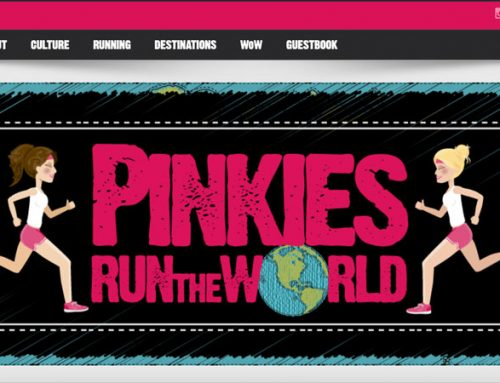Logo en website Pinky's Run the World