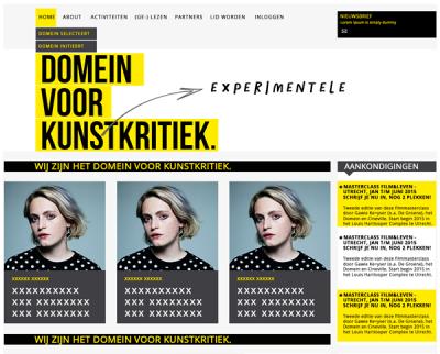 Homepage domein voor Kunstkritek