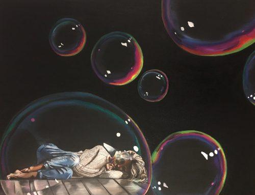All alone in a bubble